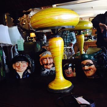 Mushroom lamp - Art Glass