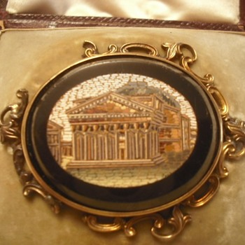 Heirloom Victorian Micro-Mosaic Broach