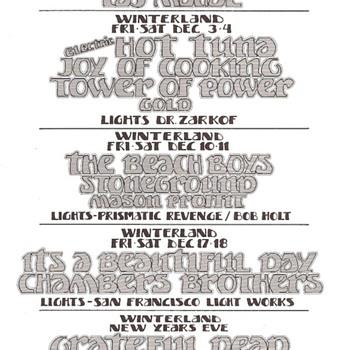 Randy Tuten handbill, late 1971 - Music Memorabilia