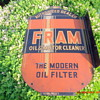 Fram Oil Filter Metal 2 sided sign