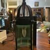 Arts & Crafts hall lantern with vaseline shade