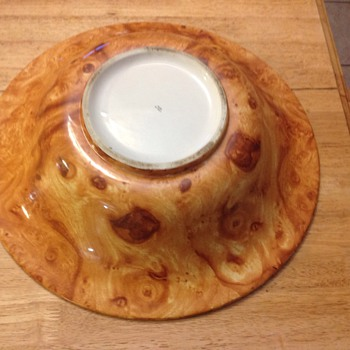 potery bowl made in italy 16 1/2 round  - Pottery