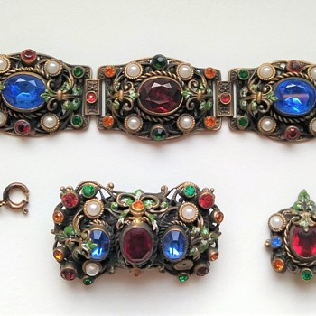 Old Czech set - Costume Jewelry