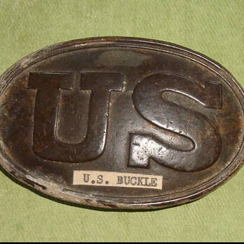 US Civil War excavated (1961) Belt Plate - Military and Wartime