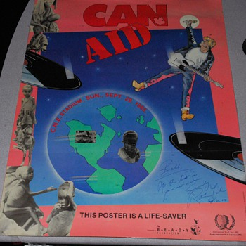 Can-Aid C.N.E Stadium 1985 signed Ritchie Yorke - Music Memorabilia