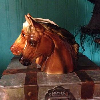Inarco double horse head vase - Animals