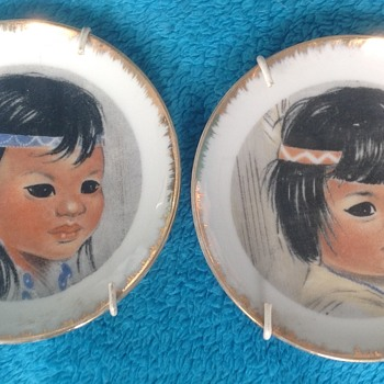 Two small plates - China and Dinnerware