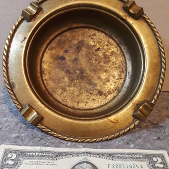 brass ashtray (#1) - Tobacciana