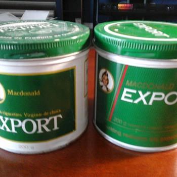 MacDonald Export tins - Tobacciana