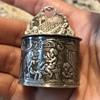 Silver Mini Salt Cellar with Cherubs/Angels