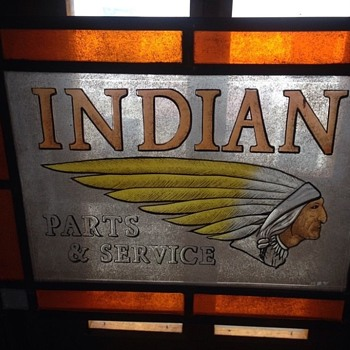 Indian Motorcycle  - Art Glass