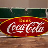 1949 Coca Cola double sided porcelain marquee sign