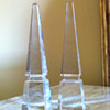 Pair of Baccarat Louxor Crystal Obelisk