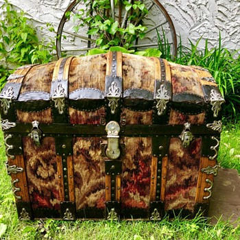 Rare Carpet Covered Trunk - Furniture