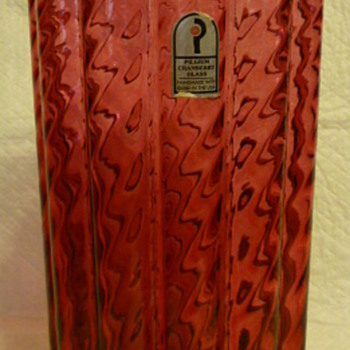 Favorite item I found today - Pilgrim Glass cranberry glass tall vase - Art Glass