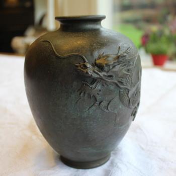 Japanese Bronze Vase - Yoshimasa artist?