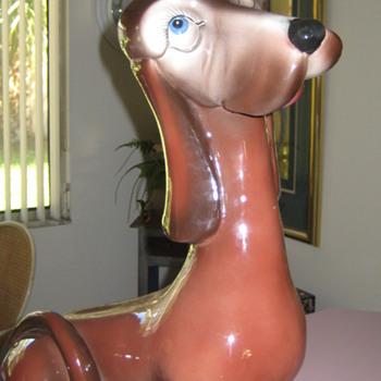 Vintage dog statue