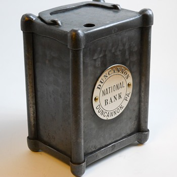 """Promotional Advertising Bank""""Duncannon National Bank, Pa"""", Circa 1900 - Coin Operated"""