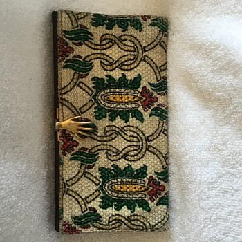Rare Vintage Gucci 1960s Leonardo Cloth Hand Clasp Wallet