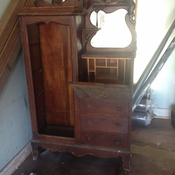 Armoire with vanity
