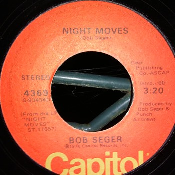 The Gents...#3...Bob Seger...On 45 RPM Vinyl - Records
