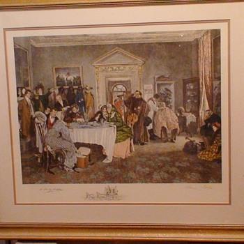 """London To York Times Up Gentlemen"" Walter Dendy Sadler Print Signed In Pencil 32.5 x 28"""