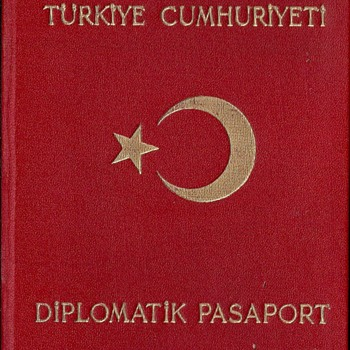 1950 Turkish diplomatic passport