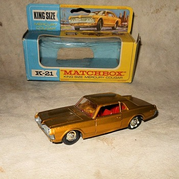 Meta Metaluna Mercury Matchbox Monday K-21 King Size Mercury Cougar 1969 - Model Cars