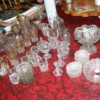 children cut glass dishes - Glassware
