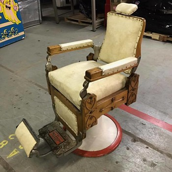 Koch Antique Barber's Chair! - Furniture