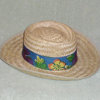 Men's Straw Hat with Tropical Band - Hats
