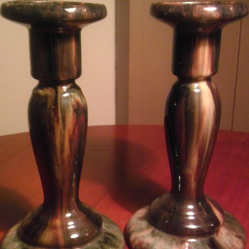 Brush mccoy candle sticks - Pottery