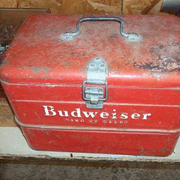 VINTAGE BUDWEISER ICE BOX - Breweriana