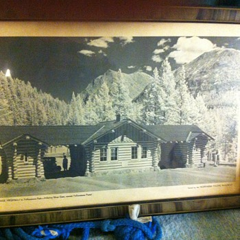 Picture and frame of highway red lodge to Yellowstone - silver gate