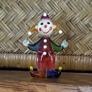 Can anyone ID the maker of this glass clown / jester? - Art Glass