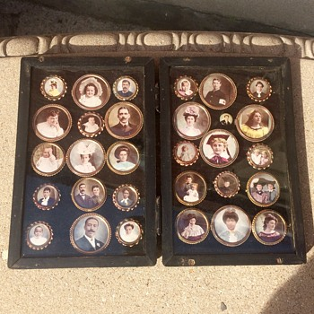 Estate Sale Find cased Portrait Brooches African Americans - Costume Jewelry