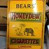 Bear's Cigarettes London Porcelain Sign