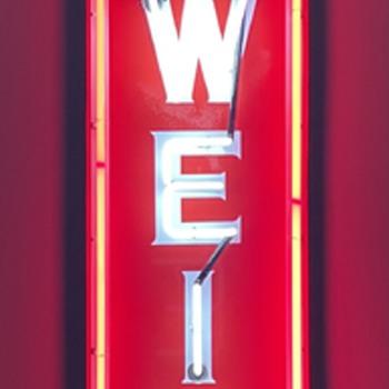 Vertical Budweiser Sign - Breweriana