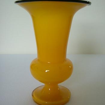 Czech Art Deco Welz Tango Glass Vase - Art Glass