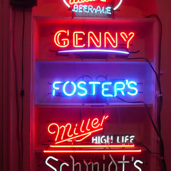My Beer Neon Sign Collection  - Breweriana