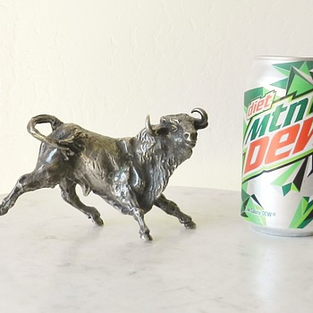 "Solid Silver? Bucking Bronco Signed ""cob@ or cobo"" and CA? - 2lbs3oz - Animals"