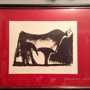 """Vintage Signed Picasso Lithograph """"Le Taureau Noir"""" (The Black Bull) - Fine Art"""