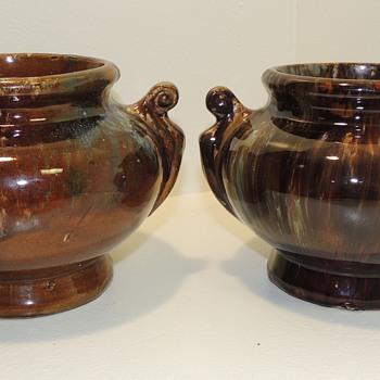 Flint Enamel Planters? Late 19th - Early 20th century  - Pottery