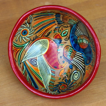 Ceramic Tri-pod Bowl Antonio Rivera Style - Pottery