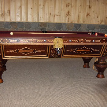 Antique Brunswick 'Nonpareil' pool table, c. 1870's - Furniture