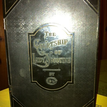 "1930'S Colt Humidor ""The Courtship of Lady Nicotine"" - Tobacciana"