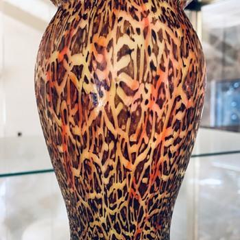 Franz Welz - ash crackle decor  - Art Glass
