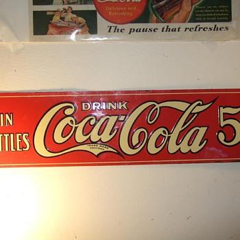 Rare 1922 Coca-Cola sign  - Advertising