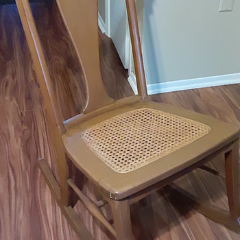 Armless rocking chair or nursery chair  - Furniture