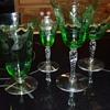 Pretty green goblets